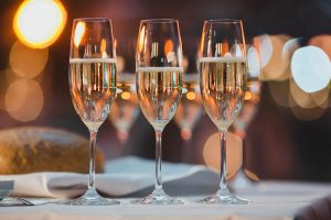 Drei Champagner Gläser