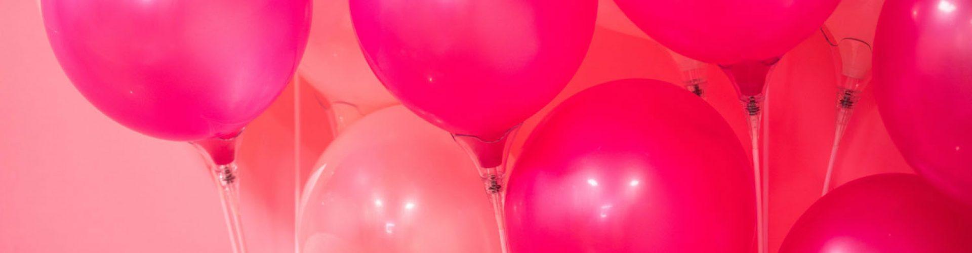Luftballons pink